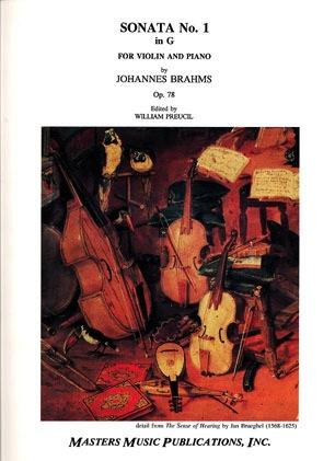 LudwigMasters Brahms (Preucil): Sonata No.1 in G Major, Op.78 (violin & piano) Masters Music