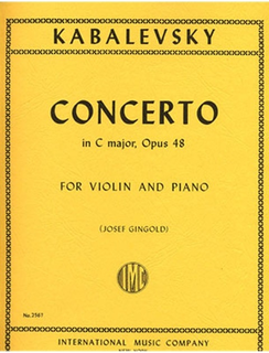 International Music Company Kabalevsky, Dmitri (Gingold): Concerto in C major, Op.48 (violin & piano)
