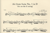 Bach, J.S. (Campbell arr): ''Air on the G String'' from Suite #3 in D (violin/CD)