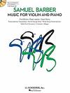 HAL LEONARD Barber, Samuel: Music for Violin and Piano (Violin & Piano or CD)