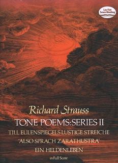 "Dover Publications Strauss, R.: (score) Tone Poems: Series 2 - Till Eulenspiegels, ""Zarathustra,"" & Ein Heldenleben (full orchestra) Dover Publications"