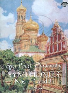 Dover Publications Tchaikovsky: (score) Symphonies Nos.1, 2 & 3 (full orchestra) Dover Publications