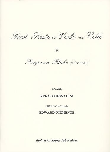 Rarities for Strings Blake, Benjamin: Solo for for Viola in Three Movements with Cello or Piano Accompaniment.