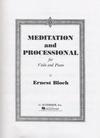 HAL LEONARD Bloch, Ernest: Meditation & Processional (viola & piano)
