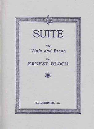 HAL LEONARD Bloch, Ernest: Suite 1919 (Viola & Piano)