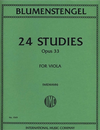 International Music Company Blumenstengel (Wiemann): 24 Studies, Op.33 (viola)