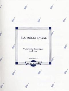 Blumenstengel, A. (Arnold): Viola Scale Technique book 1