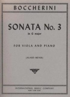 International Music Company Boccherini, Luigi (Alard): Sonata #3 in g (viola & piano)