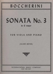 International Music Company Boccherini, Luigi (Alard): Sonata #3 in g (viola & piano)