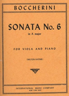 International Music Company Boccherini, Luigi (Katims): Sonata #6 in A (viola & piano)