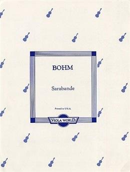 Bohm (Arnold): Sarabande (viola & piano)