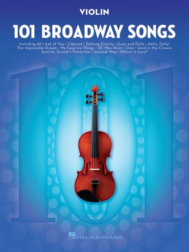 HAL LEONARD 101 Broadway Songs (violin)