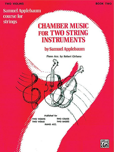 Alfred Music Applebaum, S.: Chamber Music for Two String Instruments V.2 (2 violins)