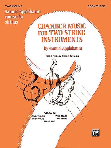 Alfred Music Applebaum, S.: Chamber Music for Two String Instruments V.3 (2 violins)