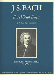 C.F. Peters Bach, J.S.: Easy Violin Duets (two violins)