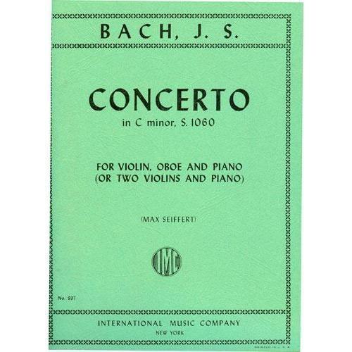 International Music Company Bach, J.S.: Concerto in C minor (violin, Oboe & piano) (2 violins & piano)  IMC