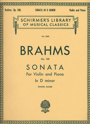 HAL LEONARD Brahms, Johannes: Sonata #3 Op.108 in d minor (violin & piano)