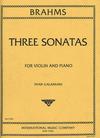 International Music Company Brahms (Galamian): Three Sonatas (violin & piano)