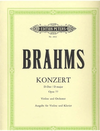 C.F. Peters Brahms, Johannes (Klingler): Concerto in D major Op.77 (violin & piano) C.F. Peters
