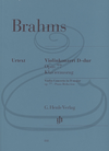 HAL LEONARD Brahms (Roesner/Struck): Concerto in D Major, Op.77 - URTEXT (violin & piano reduction) Henle