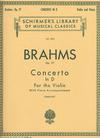 HAL LEONARD Brahms, Johannes (Zimbalist): Concerto in D Major, Op.77 (violin & piano) Schirmer