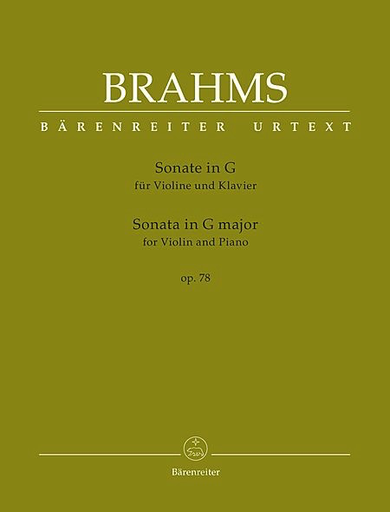 Barenreiter Brahms, J. (Brown): Sonata in G Major, Op.78 - URTEXT (violin & piano) Barenreiter