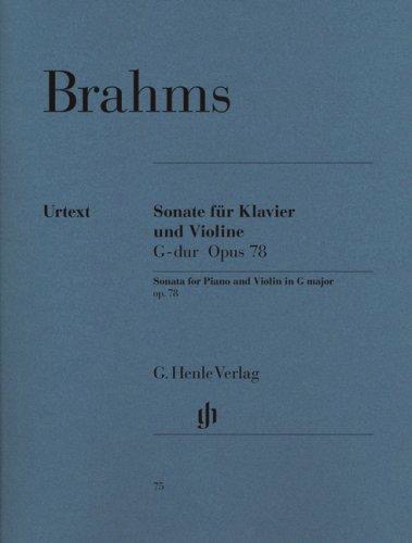 HAL LEONARD Brahms, J.: Sonata for Violin and Piano in G Major, Op.78 - URTEXT (violin, and piano)
