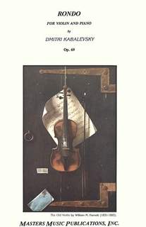 LudwigMasters Kabalevsky, Dmitri: Rondo Op.69 (violin & piano)