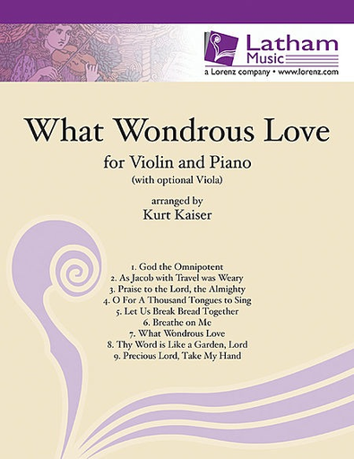 LudwigMasters Kaiser, Kurt: What Wondrous Love for Violin and Piano with optional Viola