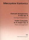 Carl Fischer Kartowicz, M.: Violin Concerto, Op. 8 (violin & piano)