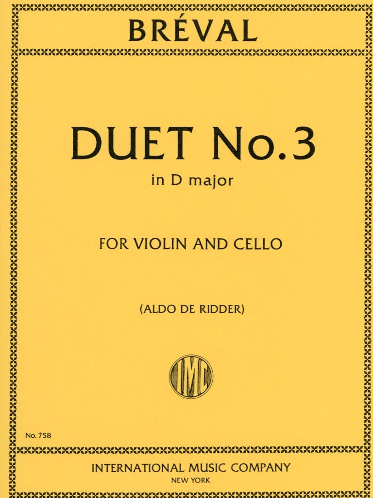 International Music Company Breval, J.B.: Duet #3 in D Major (violin, cello) IMC