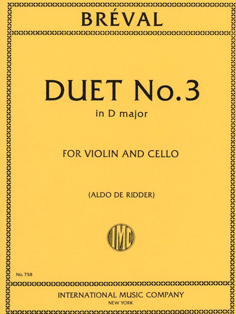 International Music Company Breval, J.B.: Duet #3 in D Major (violin, cello) IMC