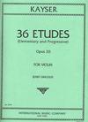 International Music Company Kayser, H.E. (Gingold): 36 Etudes Op. 20 for Violin-Elementary & Progressive