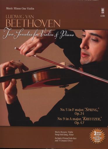 HAL LEONARD Beethoven, L. van: Two Sonatas-No. 5 and No. 9-Music Minus One (violin & CD)