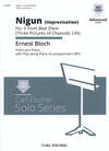 Carl Fischer Bloch, Ernest: Nigun-Improvisaton #2 from Baal Shem (violin, Piano, CD)
