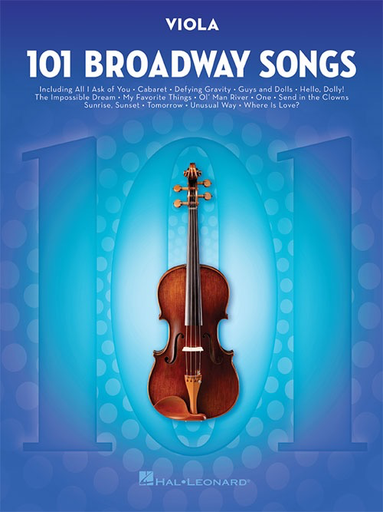 HAL LEONARD 101 Broadway Songs (viola)