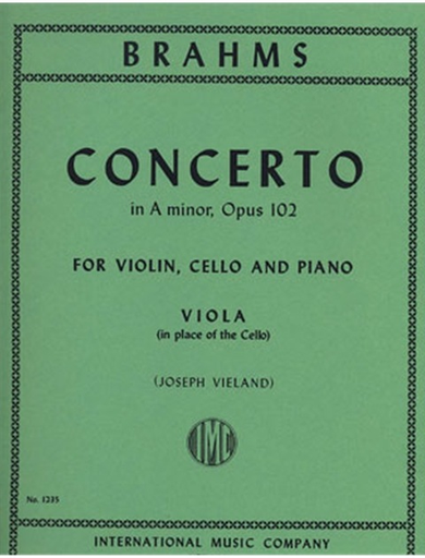 International Music Company Brahms (Vieland): Double Concerto in A minor, Op.102 (viola)