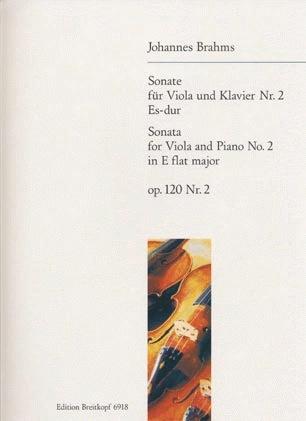 Brahms, Johannes: Viola Sonata in Eb Op.120#2 (viola & piano)
