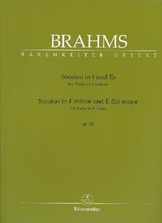 Barenreiter Brahms, Johannes (Brown): Sonata in F minor and E-flat major (viola and piano) Barenreiter Urtext