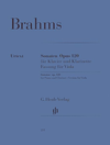 HAL LEONARD Brahms, J. (Behr): Sonatas for Piano & Viola (clarinet) Op.120, No. 1 and 2 (viola & piano)