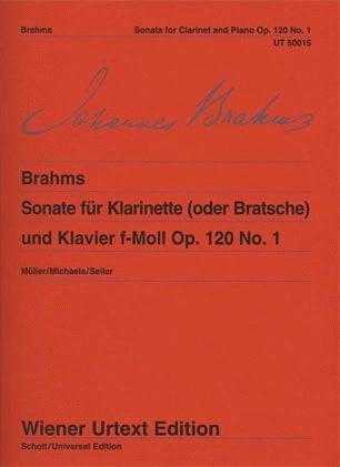 Carl Fischer Brahms, Johannes: Sonata Op.120 #1 urtext (viola & piano)
