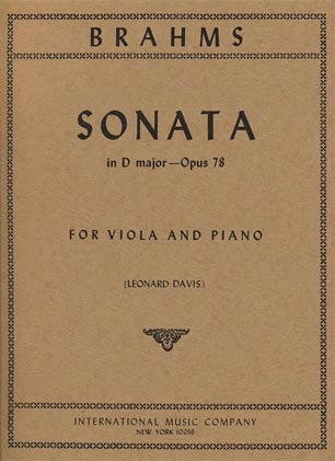 International Music Company Brahms, J.: Sonata in D Major, Op.78 (viola, and piano) IMC