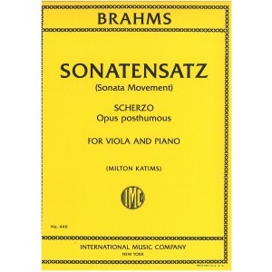 International Music Company Brahms, J. (Katims): Sonatensatz (viola & piano)