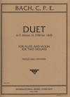 International Music Company Bach, C.P.E.: Duet in E minor, H.598 (W. 140) (violin, and flute)(two violins)