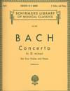 HAL LEONARD Bach, J.S. (Herrmann): Concerto in D minor, BWV1043 (2 violins, and piano)