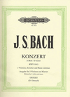 Bach, J.S.: Concerto in D minor, BWV1043 urtext (2 violins, and piano)