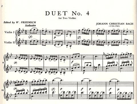 International Music Company Bach, J.C. (Friedrich): Six Duets, Volume II (two violins)