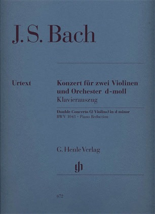 HAL LEONARD Bach, J.S. (Eppstein, ed.): Concerto in D minor, BWV1043, urtext (2 violins, and piano)