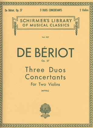 HAL LEONARD De Beriot, C.A. (Mittell): Three Duos Concertants, Op.57 (two violins)