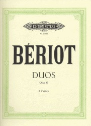 De Beriot, C.A. (Carl Herrmann): Three Duos Concertants, Op.57 (two violins)